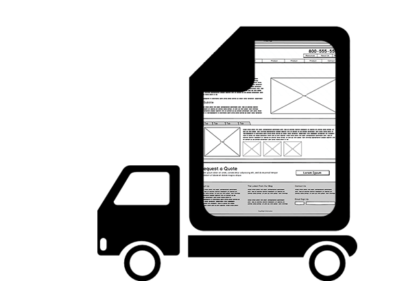 ux desing diliver Wireframe Image